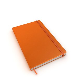 moleskine book notebook 3D model