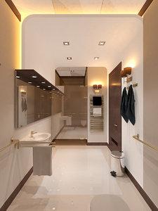 vip bathroom 3D
