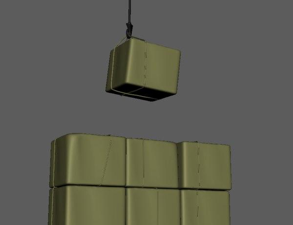 3D model cargo package