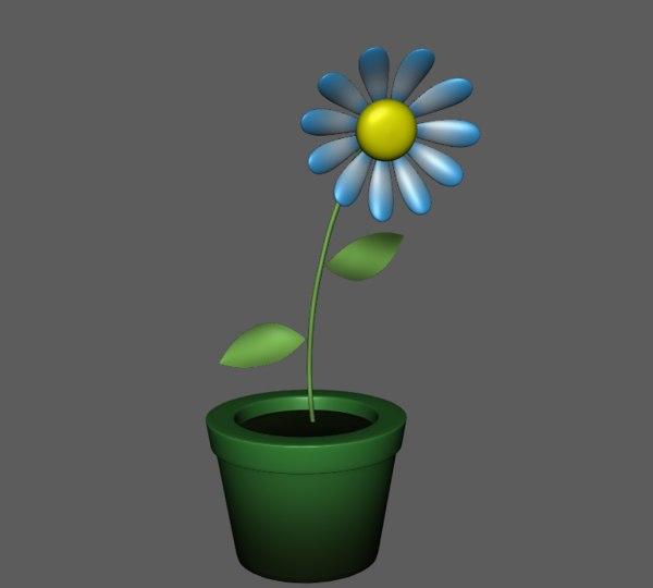 flower toon 3D