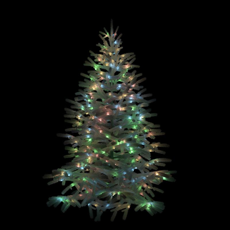 3D model christmas tree garland animation