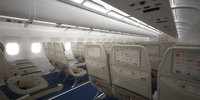 Airplane interior economy class