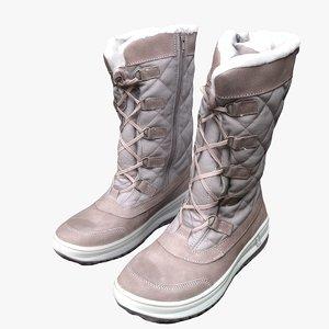 winter boots 3D
