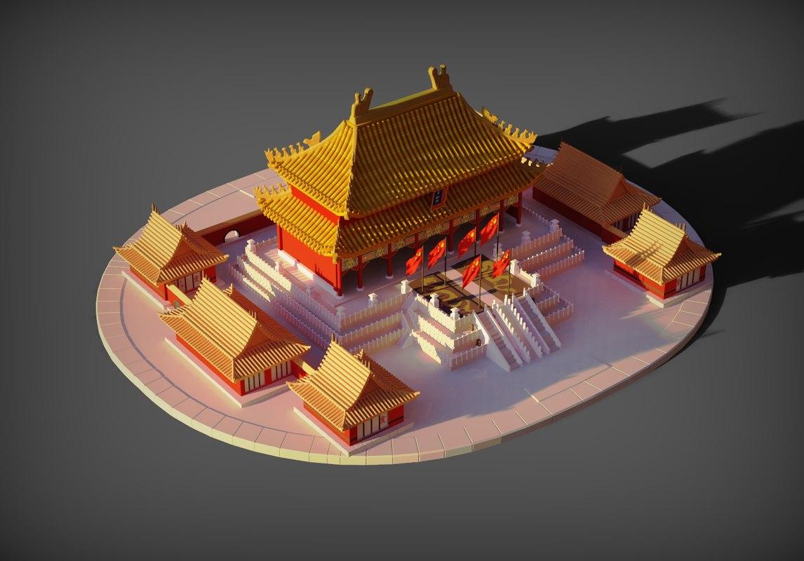 3D forbidden city china