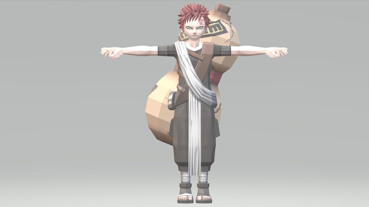 3D naruto ninja model