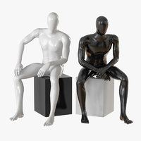 faceless male mannequin 3D