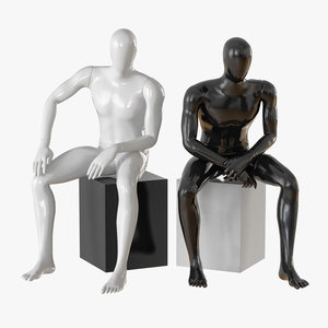 faceless male mannequin 3D