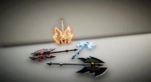 3D axe fantasy