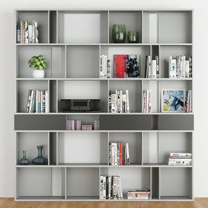 shelve bookcase 3D