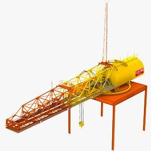 colby hammerhead crane 3D model
