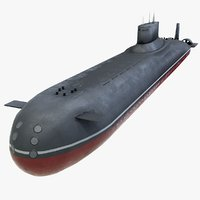 typhoon class submarine 3D model