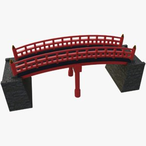 japanese bridge 3D model
