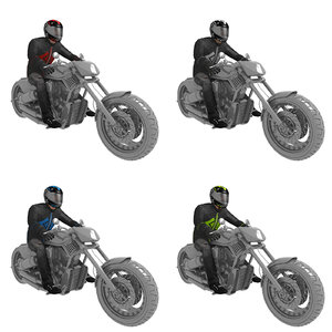 3D model pack rigged v