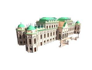 belvedere palace 3D