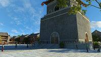 Ancient building commercial district 12