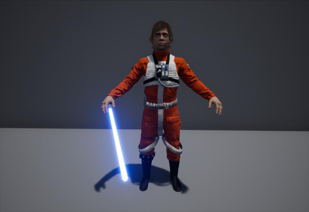 3D model luke pilot lightsaber