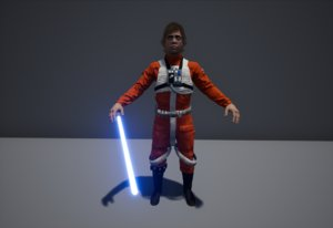 3D model luke pilot lightsaber