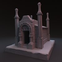 3D crypt zbrush