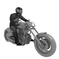 rigged biker 2 3D