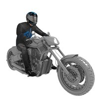 3D rigged biker man model
