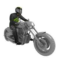 3D rigged biker man