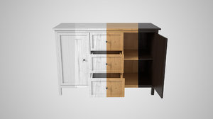 3D model ikea hemnes buffet
