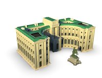 3D model palace europe building