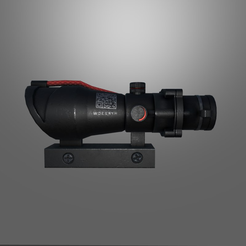 3D 4x scope model