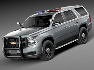 2015 chevrolet tahoe 3d model