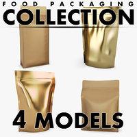 3D food packaging volume 4 model