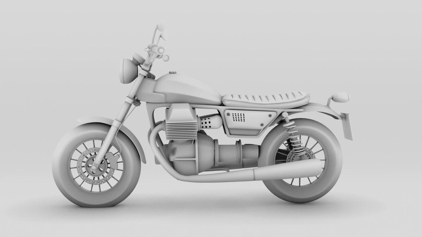 3D moto roadster model