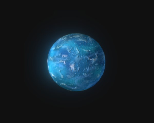 uranus planet pbr mobile 3D