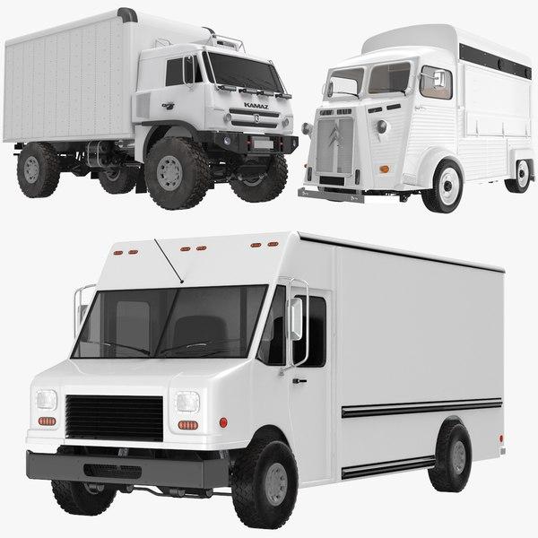 transporter trucks citroen 3D model