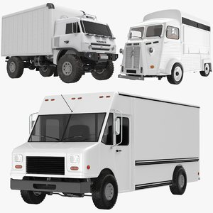 transporter trucks citroen 3D model