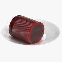 canned cranberry sauce 3D model