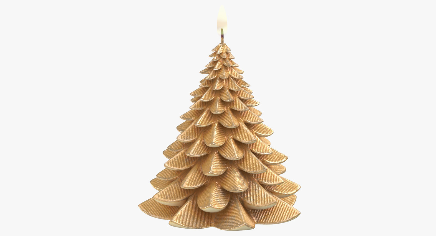tree shaped candle 04 3D