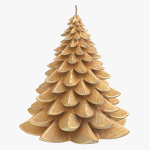 3D tree shaped candle 04 model