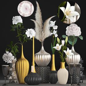 3D model flower bouquets