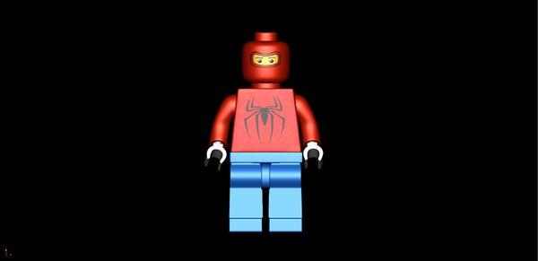3D lego character