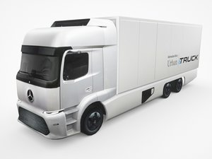 3D mercedes-benz urban etruck truck