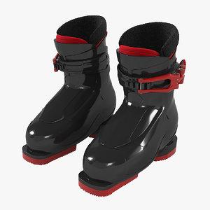 3D alpine ski boots model
