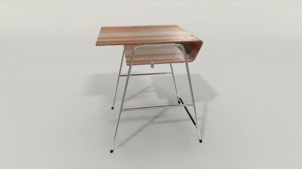 student desk 3D model