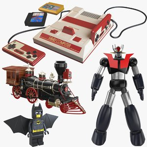 robot lego modelled 3D model