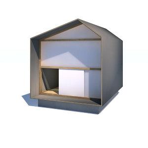 modern small teahouse chashitsu 3D model