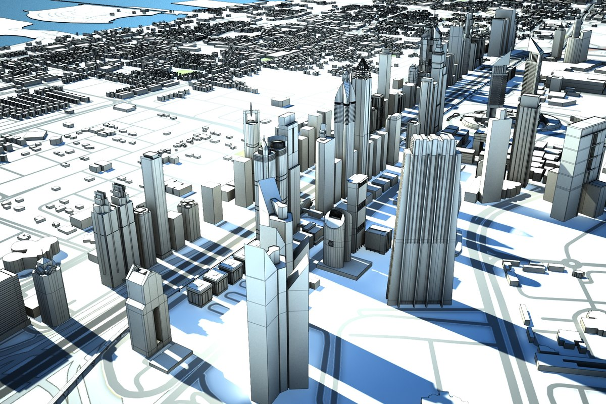 3D dubai skyline model