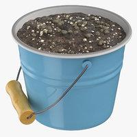 3D metal bucket model
