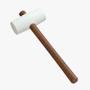 white rubber mallet 3D