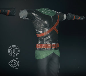 3D post clothing 9 pbr