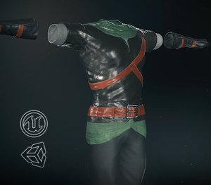 3D post clothing 9 pbr