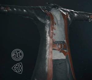 post apocalyptic clothing 7 3D model